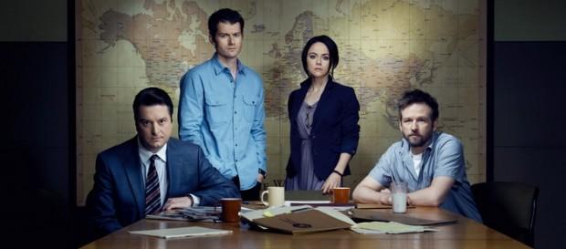 Le casting principal de gauche à droite : Christover Evan Welch, James Badge Dale,Tanya MacGaffin et Dallas Roberts