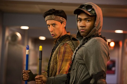 "COMMUNITY -- ""Geothermal Escapism"" Episode 504 -- Pictured: (l-r) Danny Pudi as Abed, Donald Glover as Troy -- (Photo by: Justin Lubin/NBC)"