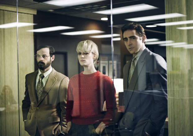 De gauche à droite : Gordon (Scoot McNairy), Cameron (MacKenzie Davis) et Joe (Lee Pace)